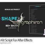 دانلود Shape Kit Script v1.0 اسکریپت افترافکت ساخت شکل های موشن گرافیک