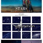 دانلود 35 عکس پوششی آسمان شب و ستاره برای فتوشاپ Stars Overlays Photoshop