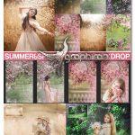 دانلود مجموعه بک گراند باغ بهاری و طبیعت فتوشاپ Summer Backdrop Photoshop Overlay