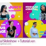 دانلود پروژه آماده افترافکت اسلایدشو رنگارنگ فانتزی Colorful Slideshow