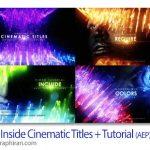 دانلود پروژه افترافکت عنوان بندی سینمایی نورانی Deep Inside Cinematic Titles