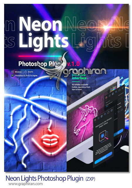 دانلود پلاگین فتوشاپ ساخت افکت نئون Neon Lights