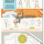 دانلود براش های فتوشاپ ایلوستریتور طراحی کاراکتر People Drawing Toolkit