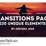 دانلود رایگان 130 ترانزیشن افترافکت متنوع و حرفه ای Transitions Pack