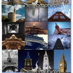 دانلود 26 عکس استوک برج های معروف دنیا Towers Stock Photos