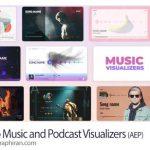 دانلود پروژه افترافکت 20 ویژوالایزر پادکست و موزیک Audio Music and Podcast Visualizers