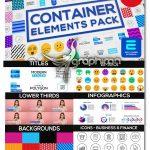 دانلود 500+ المان موشن گرافیک متنوع برای افترافکت Container Elements Pack