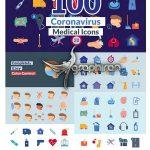 دانلود پک آیکون های ویروس کرونا و بهداشتی افترافکت Corona Virus Icons