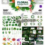 دانلود مجموعه المان های گل و بوته و گیاهان افترافکت Floral Design Pack