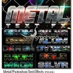 دانلود استایل های فتوشاپ فلزی جذاب سه بعدی Metal Photoshop Text Effects