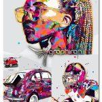 اکشن فتوشاپ ایجاد افکت عکس پاپ آرت Pop Art Photoshop Action