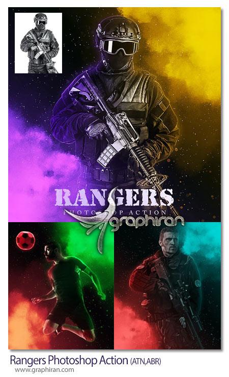 اکشن فتوشاپ رنجرز با رنگ های متنوع Rangers Photoshop Action