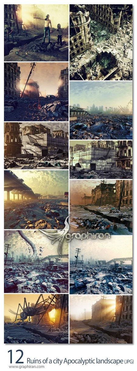 دانلود تصاویر استوک شهر مخروبه پایان دنیا