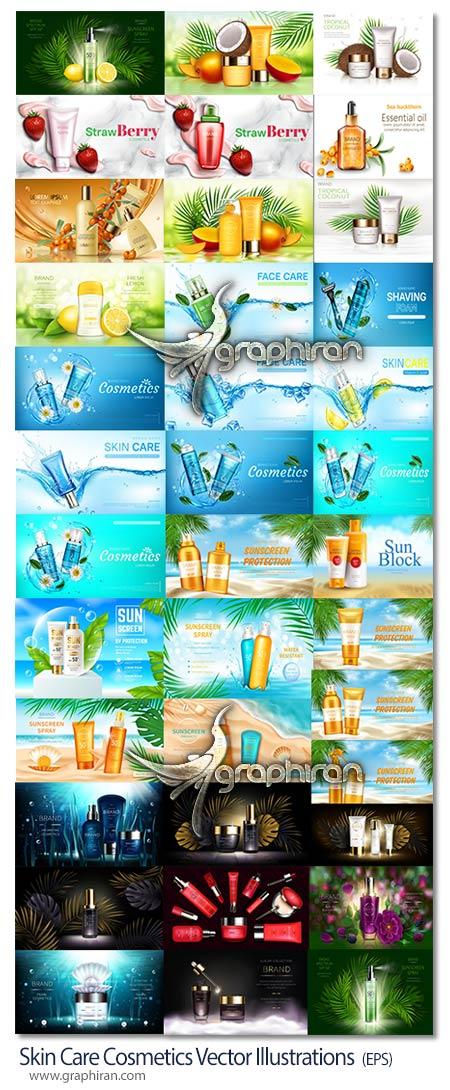 طرح های تبلیغاتی لوازم آرایشی وکتور
