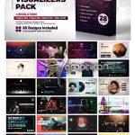 دانلود پک 24 ویژوالایزر آهنگ جذاب افترافکت Audio Visualizers Pack V2