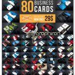دانلود پک 80 طرح لایه باز کارت ویزیت Business Cards Mega Bundle - شماره 445