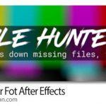 دانلود File Hunter v1.0.4 اسکریپت افترافکت جستجوی فایل ها