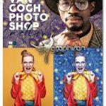 اکشن فتوشاپ طراحی نقاشی سبک ونگوگ Van Gogh Painting Photoshop Action