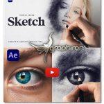 دانلود پروژه افترافکت ساخت طراحی با مداد Videohive Sketch