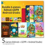 دانلود سورس کد آماده 5 بازی اندروید 5Games (Admob + GDPR + Android Studio)