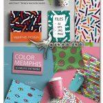 دانلود پک پترن وکتور طرح های ممفیس Colorful Seamless Memphis Patterns