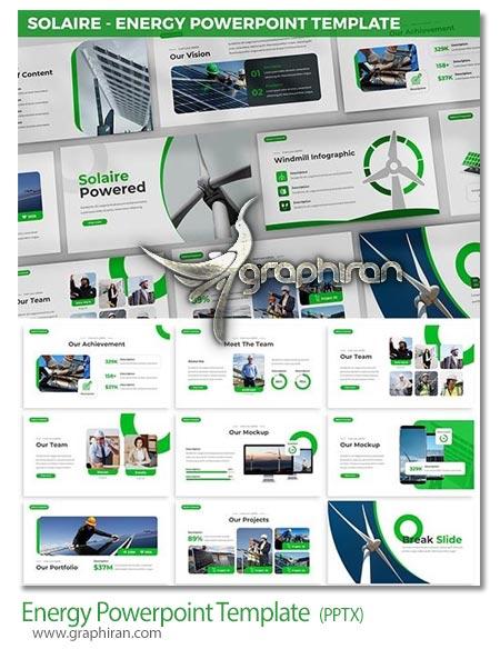 دانلود قالب پاورپوینت انرژی تجدید پذیر پاک و نو انرژی باد و خورشیدی
