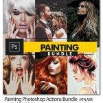 دانلود 3 اکشن فتوشاپ افکت نقاشی حرفه ای Painting Photoshop Actions Bundle