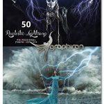 دانلود 50 تصویر پوششی رعد و برق واقعی Realistic Lightning