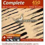 دانلود 450 براش فتوشاپ GrutBrushes Art Brushes Complete – 450 Photoshop Brushes