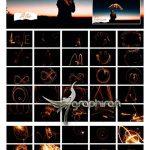 دانلود 50 عکس پوششی فشفشه و آتش بازی Happy Realistic Sparkle Overlays