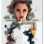 اکشن فتوشاپ نقاشی گرافیکی Painting Sketch Photoshop Action