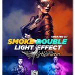 اکشن فتوشاپ دابل لایت با دود Smoke Double Light Photoshop Effect Action