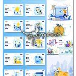 دانلود تصاویر وکتور فلت با موضوع بیزنس و تجارت و مشاغل Business Illustrations