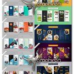 دانلود مجموعه طرح های بروشور و منو وکتور لایه باز Corporate Brochure Vector Pack