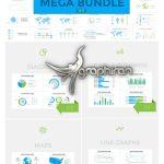 دانلود پک 450+ المان های اینفوگرافیک افترافکت Infographics Mega Bundle V3
