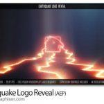 دانلود پروژه افترافکت نمایش لوگو با زمین لرزه Earthquake Logo Reveal