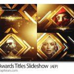 دانلود پروژه افترافکت اسلایدشو جوایز رسانه ای Gold Awards Titles Slideshow