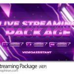 دانلود پروژه افترافکت پکیج پخش زنده و لایو استریم Live Streaming Package