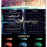 دانلود براش های فتوشاپ فضا، اجرام آسمانی و ستاره Space Brush Set