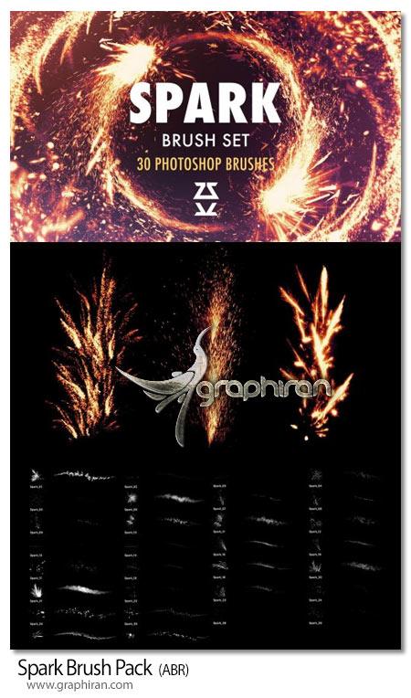 دانلود 30 براش فتوشاپ جرقه های آتش Spark Brush Pack