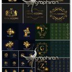 دانلود مجموعه عظیم طرح های وکتور لوگو و آرم طلایی Golden Logo Bundle