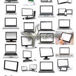 دانلود 26 عکس استوک لپ تاپ و کامپیوتر با پس زمینه سفید Laptop & PC Photos