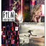 دانلود 24 تصویر پوششی افکت انتشار نور سینمایی Film Light Leaks Overlays
