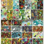 دانلود طرح های وکتور بک گراند فانتزی با گل و پرنده Birds & Flower Background Vector