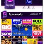دانلود پک عظیم 3600+ المان موشن گرافیک متنوع افترافکت Create Pack V1.2