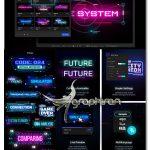 دانلود پک بک گراند و تاتیل های سایبرپانک برای افترافکت Cyberpunk Titles Lowerthirds & Backgrounds