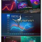دانلود پک پروژه افترافکت ساخت اینفوگرافیک Graph Tool Infographics Сharts Bundle