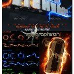 دانلود مجموعه افکت های نور و آتش لایه باز Lighting Effects Kit