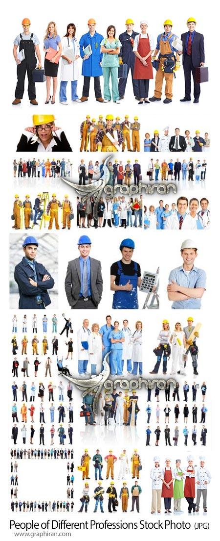 دانلود مجموعه عکس استوک مردم در مشاغل مختلف کارمند، مهندس، کارگر، پزشک، پرستار