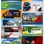 دانلود 11 طرح بنر و تابلو مشاغل مختلف PSD لایه باز Web Banners Templates